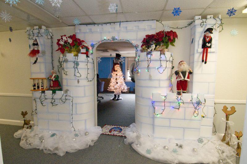 Decoração de natal para escola-neve