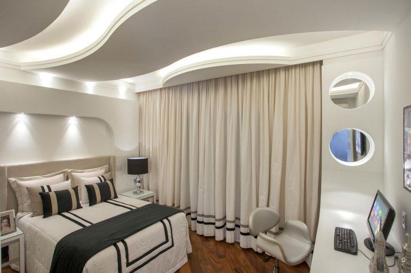 decoração de quarto de casal preto e branco