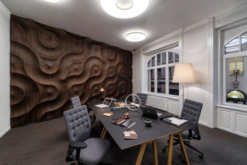 Revestimento 3D de madeira