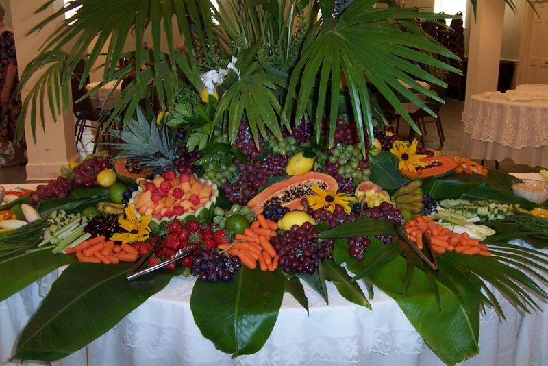 arranjo para mesa de frutas