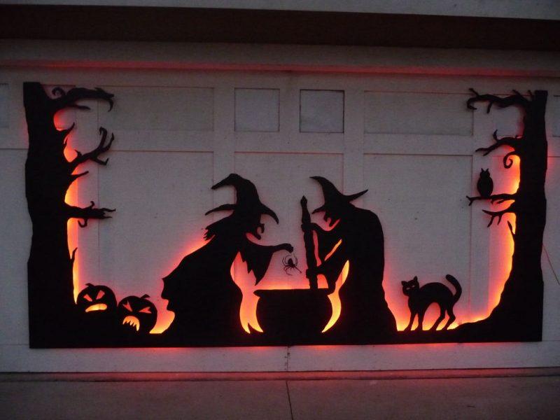 decoração de Halloween-bruxas