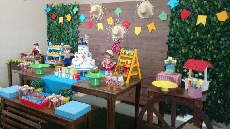 Decoraç u00e3o de Festa Caipira u2192 Mesa, Bolo, Festa Infantil (CONFIRA!!!) -> Decoração De Mesa De Festa Junina Infantil