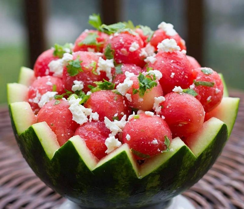 esculturas de fruta