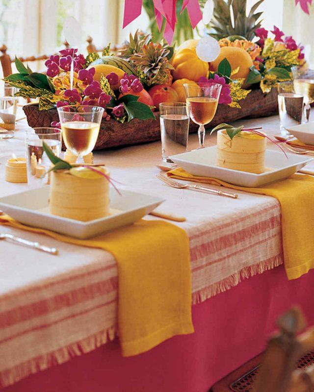 mesa de frutas réveillon