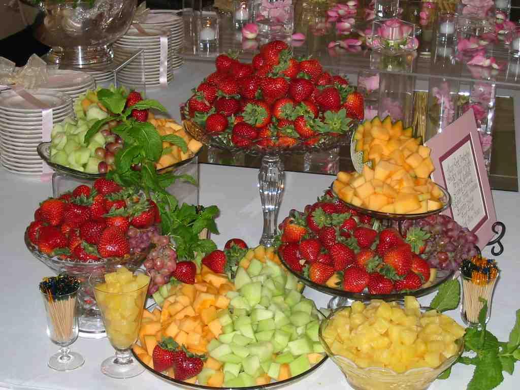 mesa de frutas simples