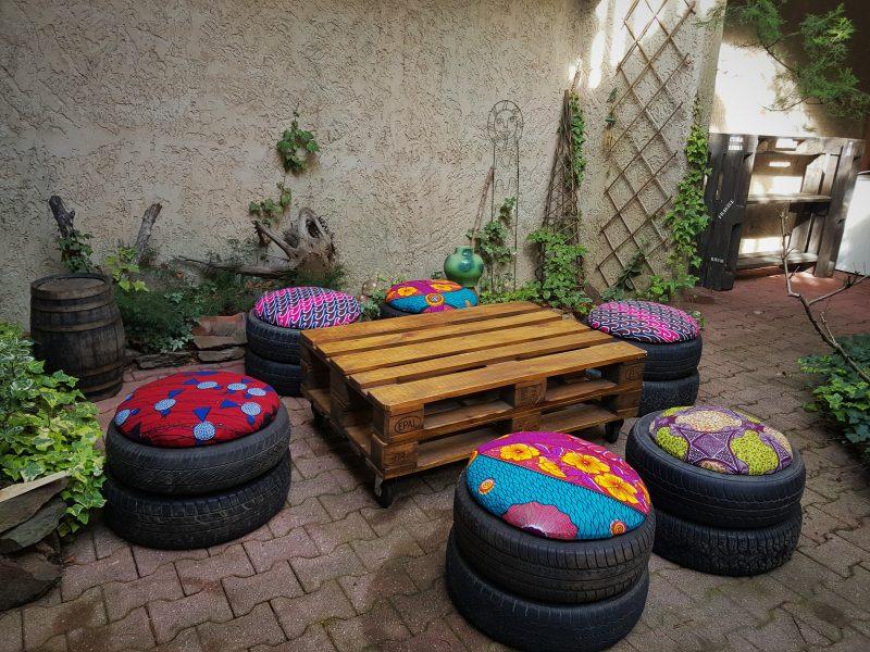 Jardim Com Pneus Decora 231 227 O Vaso Com Pneus Tinta
