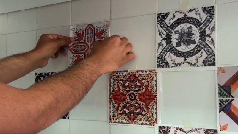 adesivo de azulejo português
