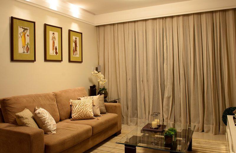 Cortinas para sala de estar modernas var o para - Estor con cortina ...