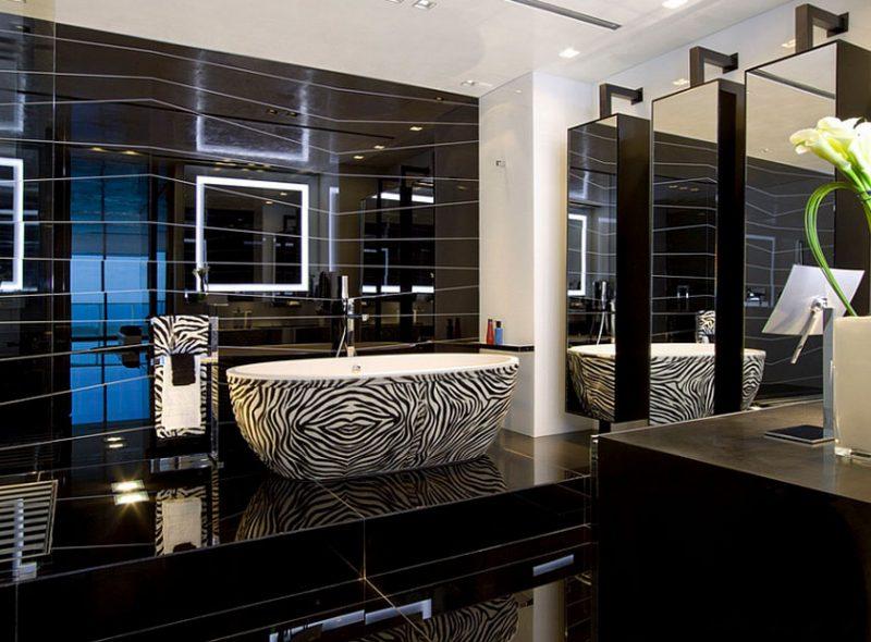 pisos pretos para banheiro