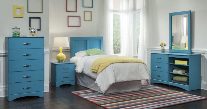 quarto móveis coloridos