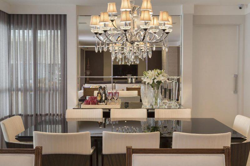 Decoraç u00e3o de Sala Pequena Como Decorar, Móveis e {MAIS!!!} -> Decoração De Sala De Jantar Pequena Com Espelho