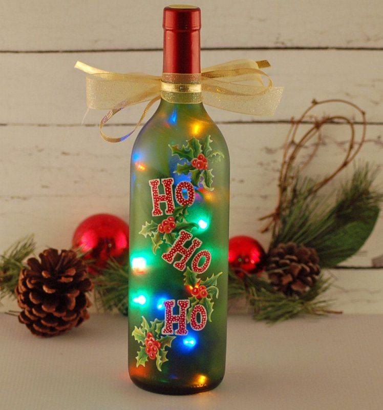 garrafas decoras natal