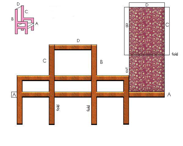 moldes móveis de papelão