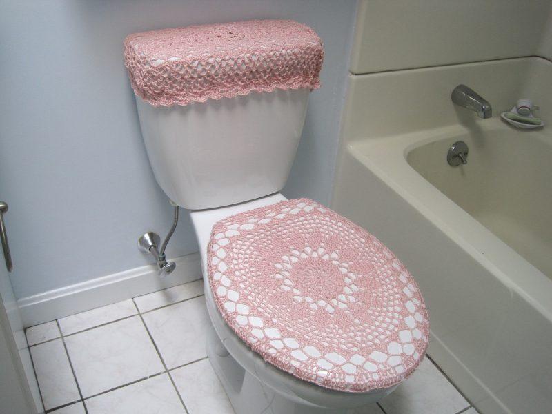 jogo de banheiro de crochê simples