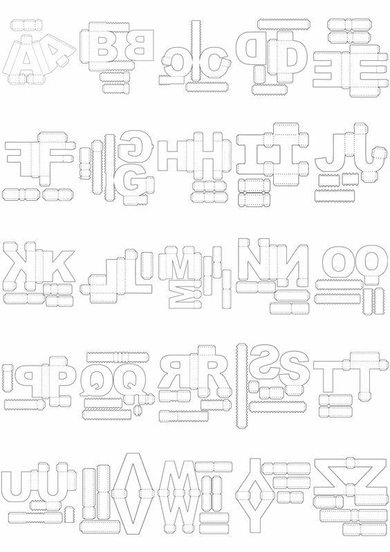 Moldes De Letras Eva Feltro 3d Para Imprimir E Muito Mais