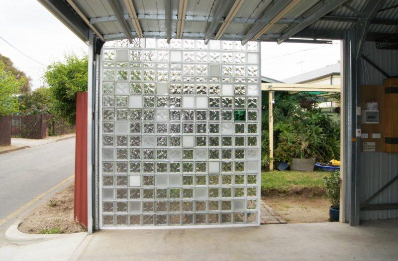 modelos de muros de vidro