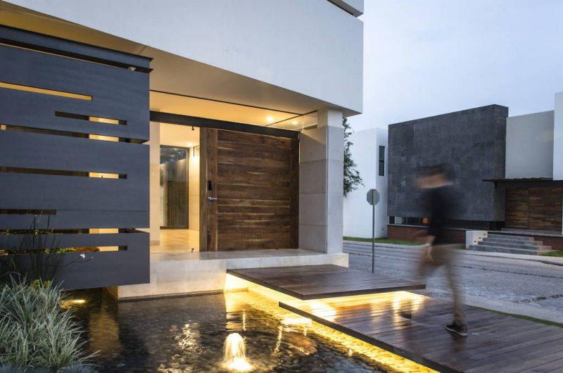 entradas de casas moderna simples com pedras veja mais