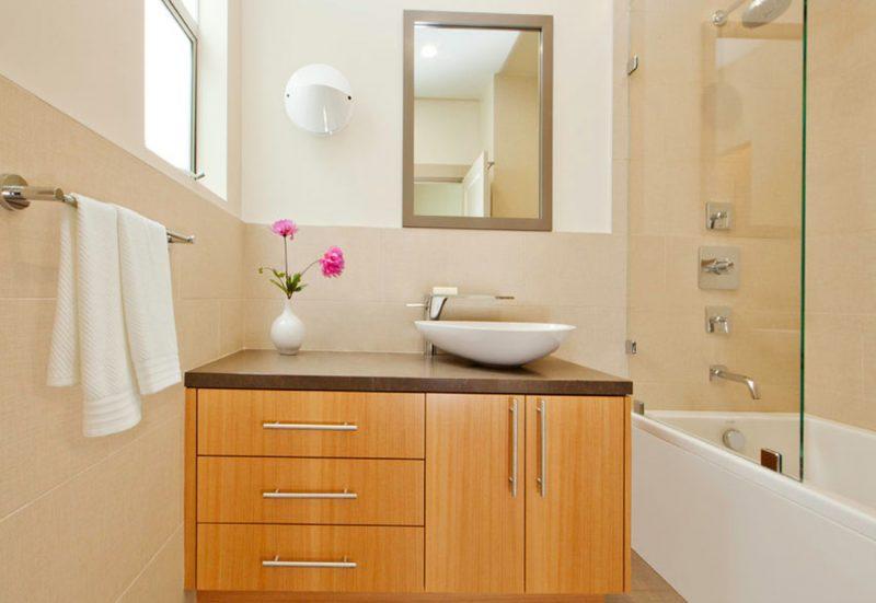 decoração moderna para banheiro pequeno