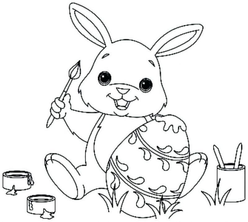 coelho para colorir