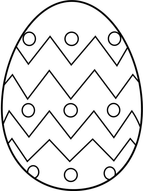 ovo de páscoa para colorir