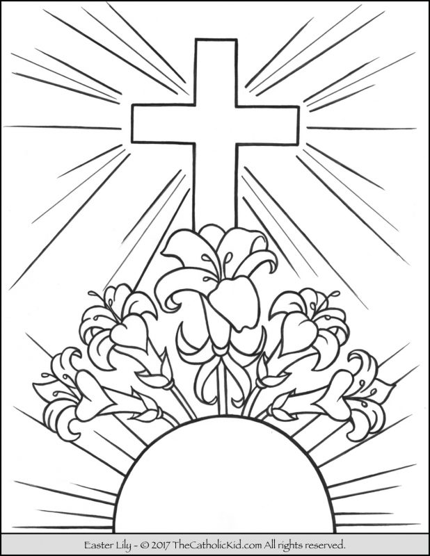 cruz para colorir