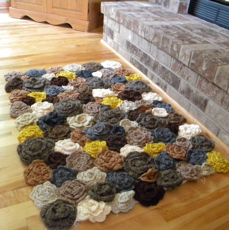 tapete flores de crochê