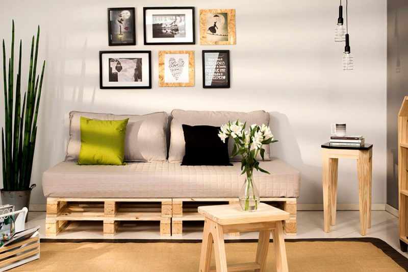 sofá de pelete