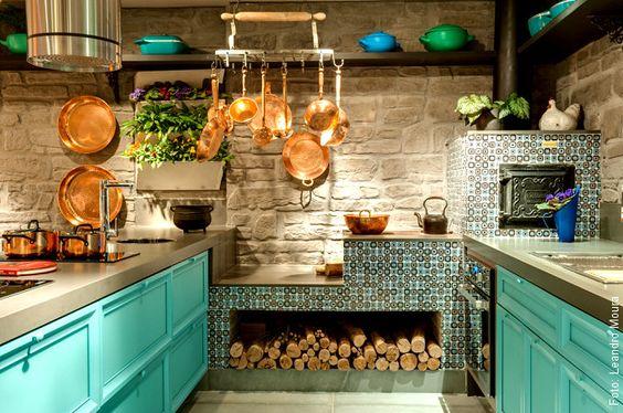 cozinha externa rústica