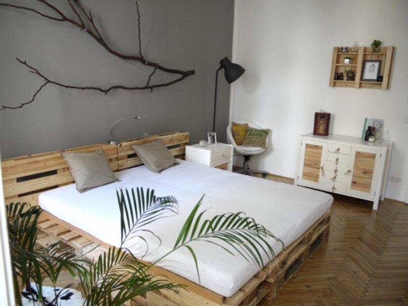 decoração com paletes quarto