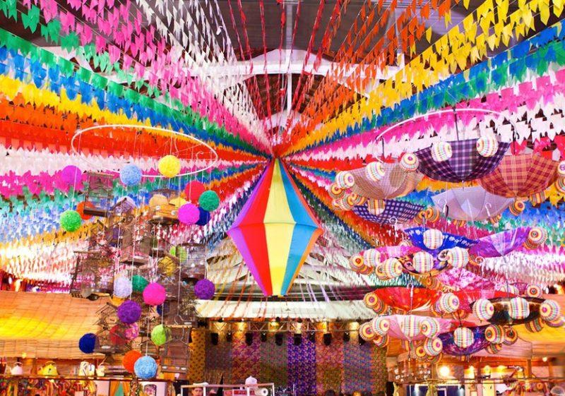 DECORA u00c7ÃO FESTA JUNINA 2019 u2192 Ideias Para Decoraç u00e3o u3010VEJA! u3011 -> Decoração Tnt Festa Junina
