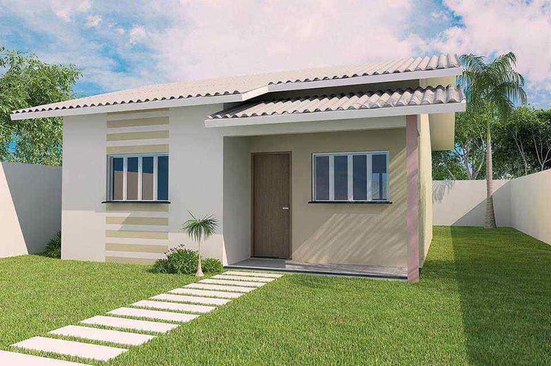 Fachada de casa simples e bonita