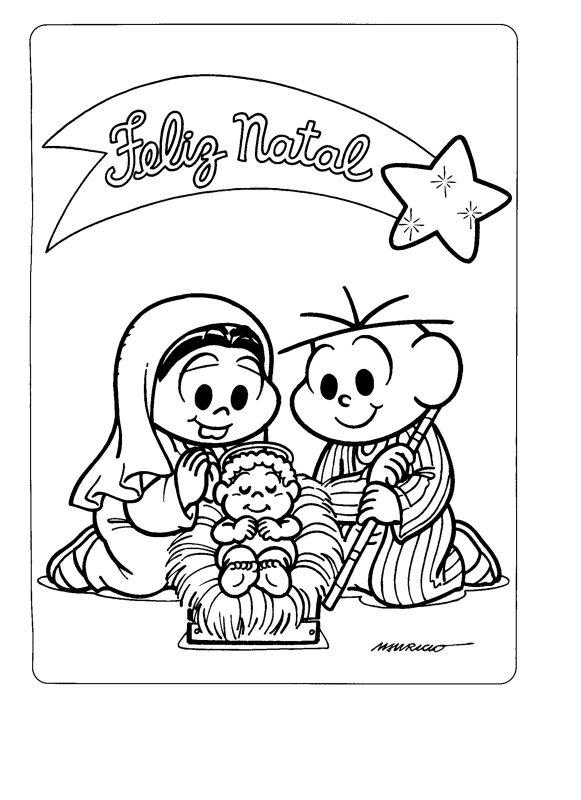 Cartão de Natal Para Colorir