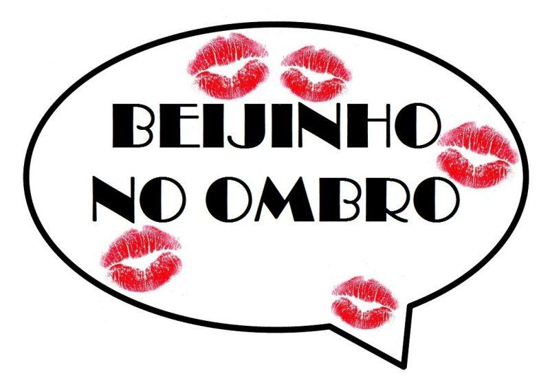Plaquinhas Divertidas Festa Beijo no Ombro