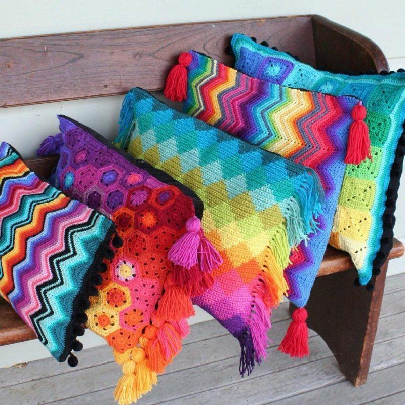 Modelos de Almofadas de Crochê