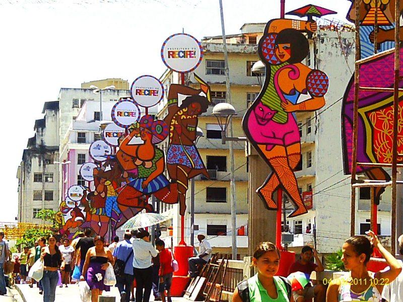 decoração de carnaval de rua