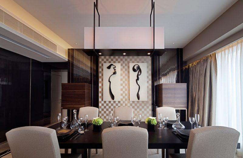 decoração com quadros-quadros para sala de jantar