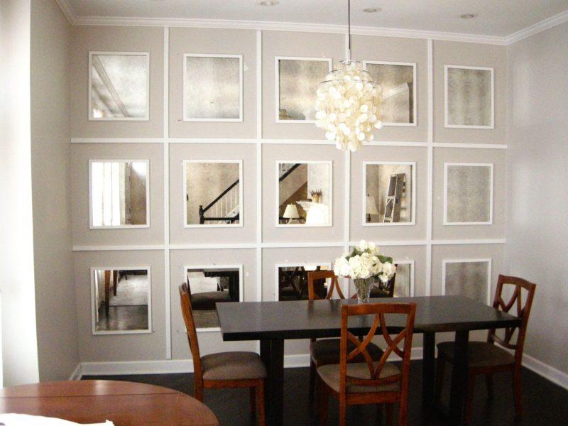 Decoração de Sala de Jantar Pequena com Espelho