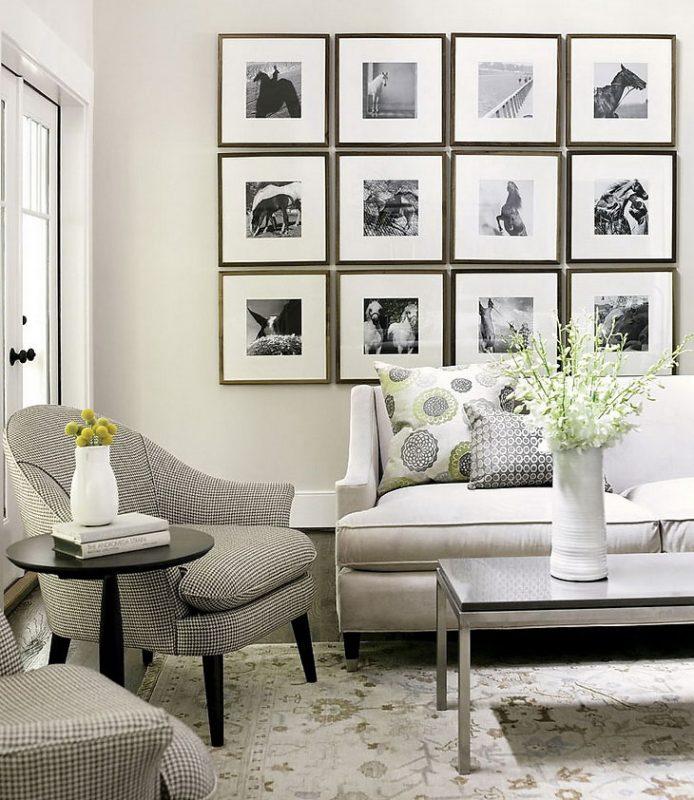 decoração com quadros-quadro de fotos