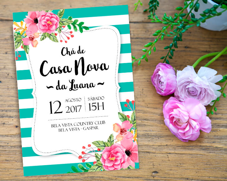 Cha De Casa Nova Decoração Lista Convite Lembrancinha Veja