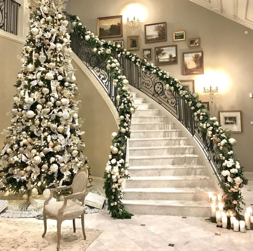 Decoração de árvore de natal elegante