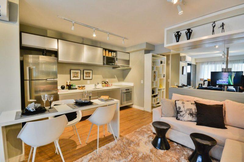 Cozinha Americana Com Sala de Jantar Moderna