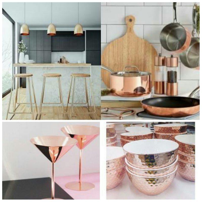 Cozinha de Luxo rose gold