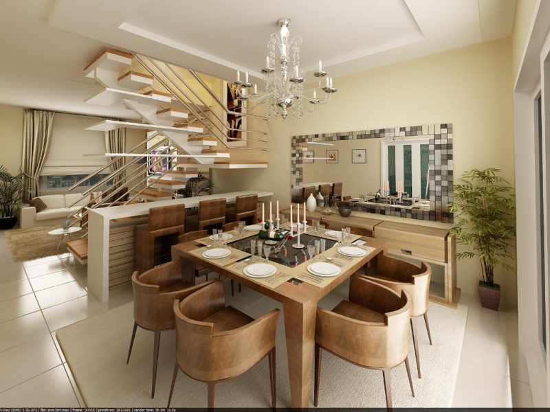 Sala de Jantar Moderna e Sofisticada