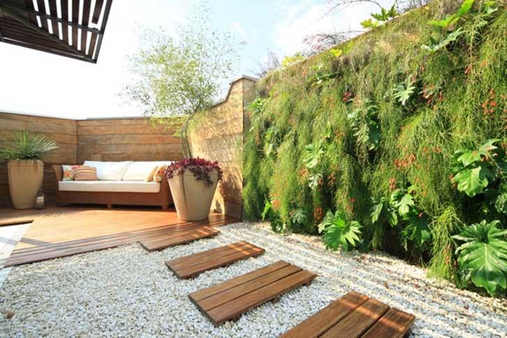 Decoração de Jardim Com Bambu