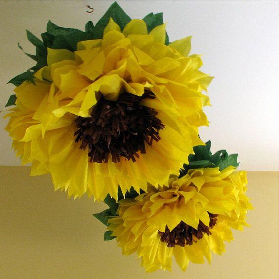 decoração com papel crepom - flor de papel crepom