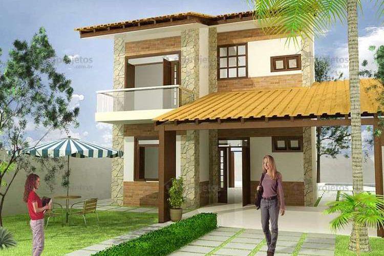 Fachadas de Casas Com Telhado 2 Águas