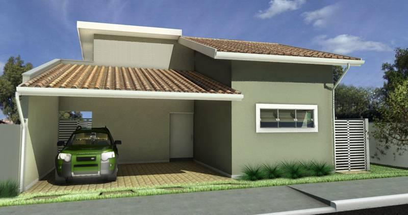 Fachadas de Casas Com Telhado 3 Águas