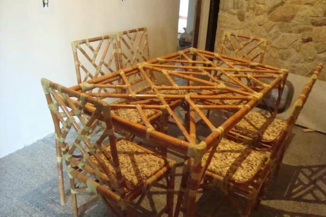 Decoração com Bambu Para Mesa