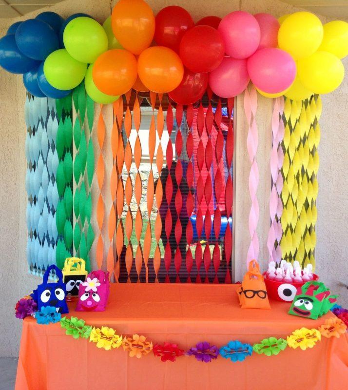 Second Home Decorating Ideas: DECORAÇÃO COM PAPEL CREPOM → Aniversário, Painel, Mesa E