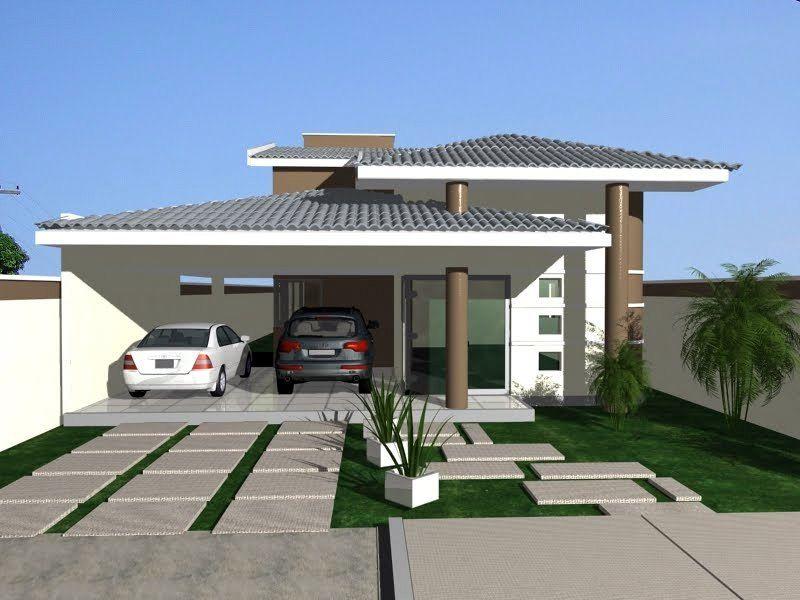 Fachadas de Casas com Telhado